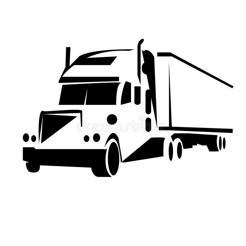Ejemplo del vector del camión del esquema stock de ilustración