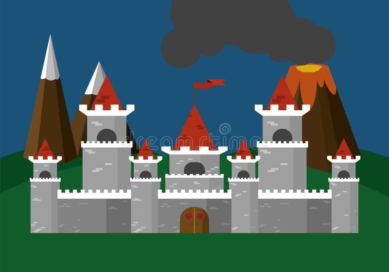 Ejemplo del vector del castillo plano libre illustration
