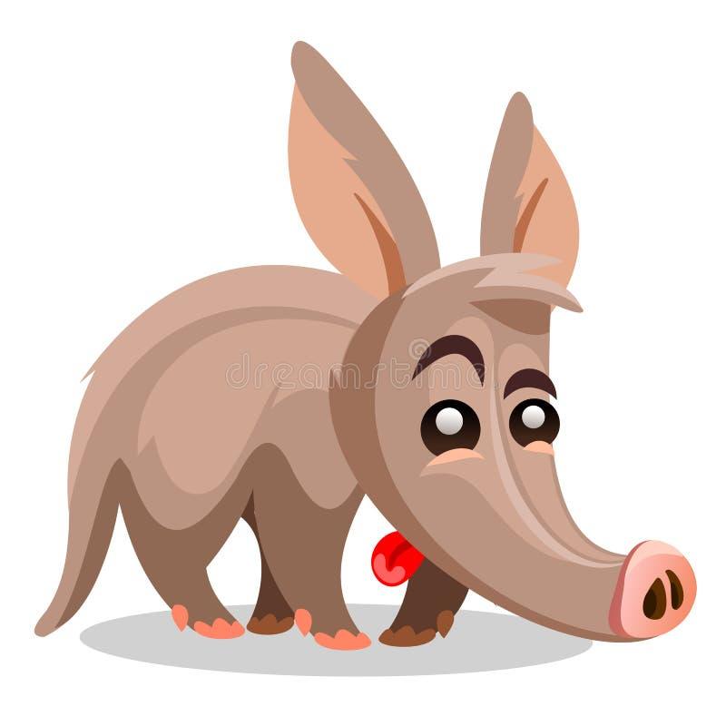 Ejemplo del vector del cerdo hormiguero Una historieta ilustración del vector