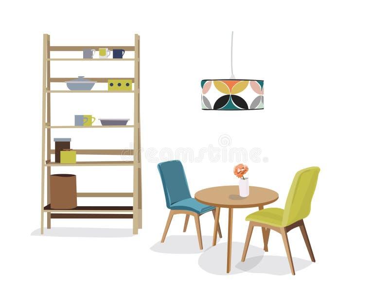 Ejemplo del vector del comedor stock de ilustración