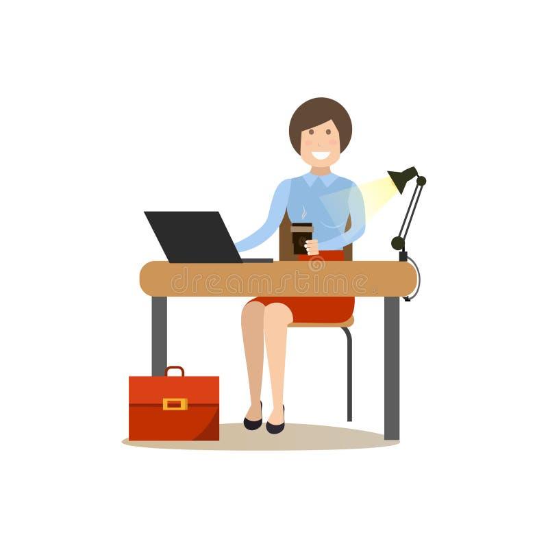 Ejemplo del vector del concepto de la gente de la oficina en estilo plano ilustración del vector