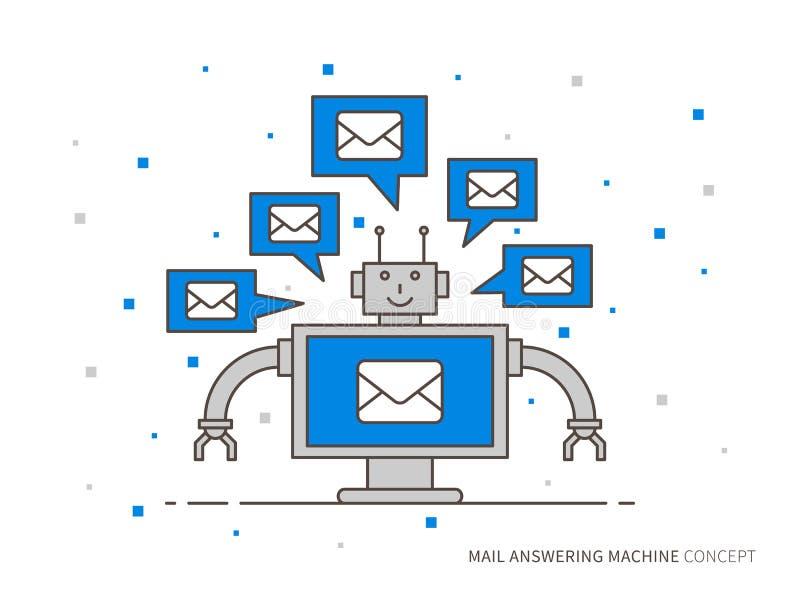 Ejemplo del vector del contestador automático del correo stock de ilustración