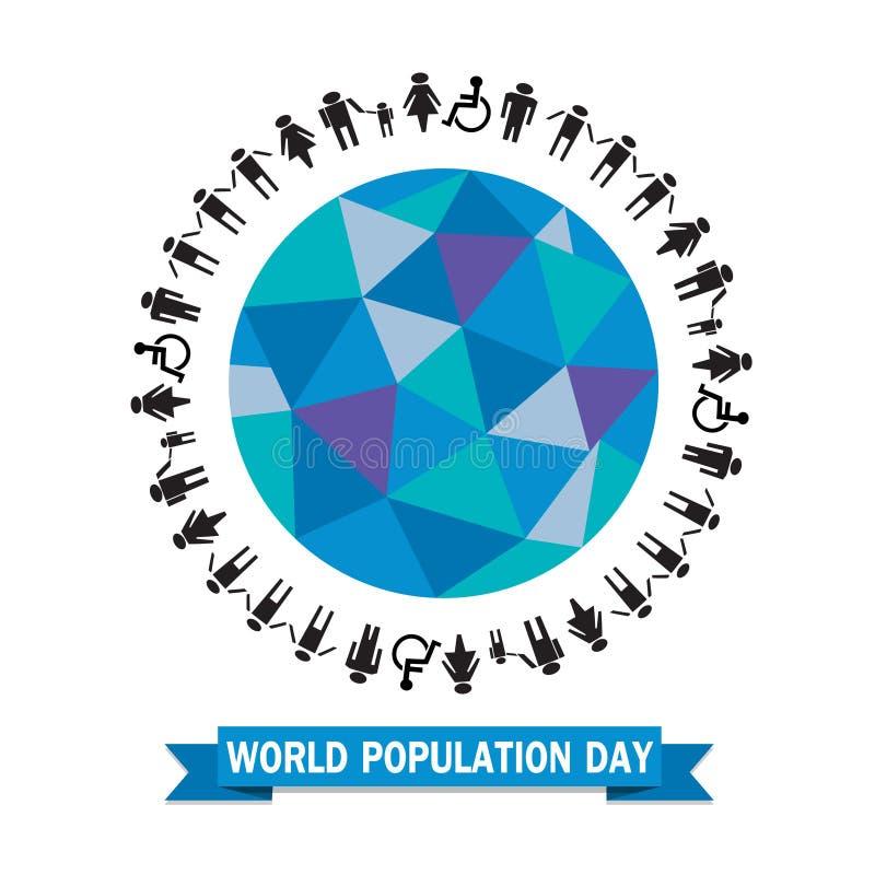 Ejemplo del vector del día de la población de mundo libre illustration