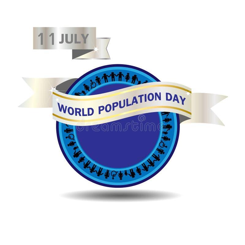Ejemplo del vector del día de la población de mundo stock de ilustración