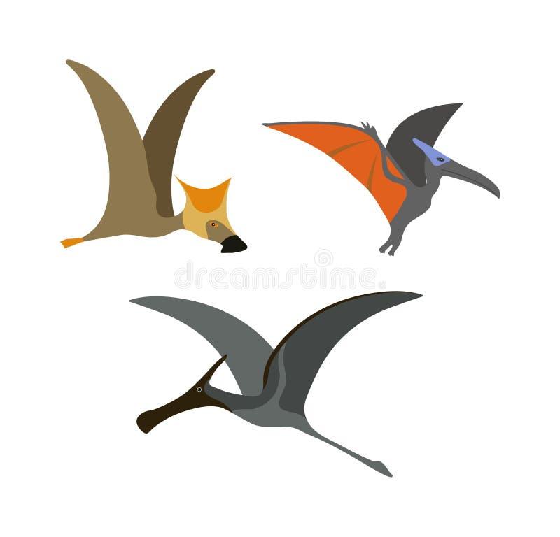Ejemplo del vector del dinosaurio del pterodáctilo stock de ilustración