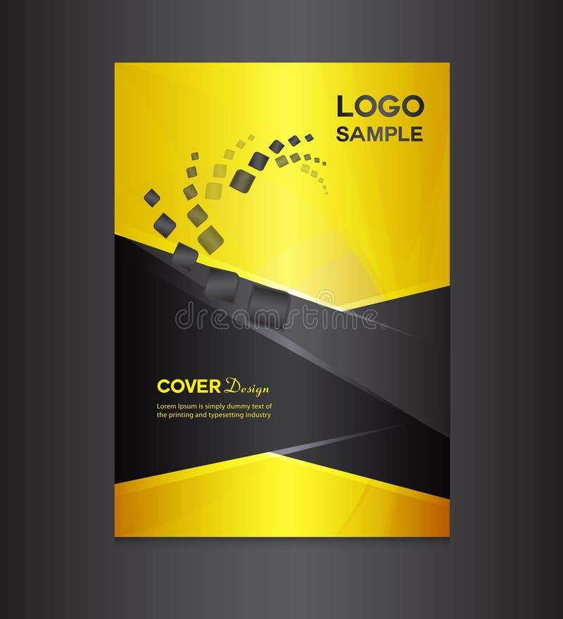 Ejemplo del vector del diseño del oro y de la cubierta del negro libre illustration