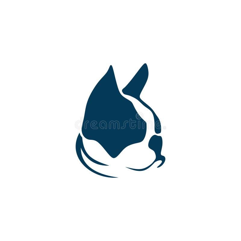 Ejemplo del vector del dogo francés imagen de archivo libre de regalías