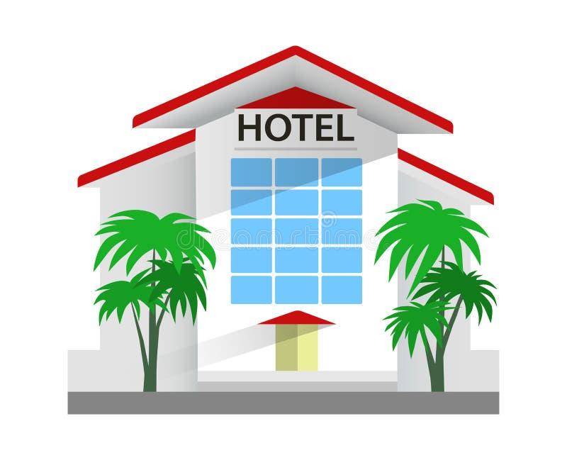 Ejemplo del vector del edificio del hotel Viaje y turismo stock de ilustración