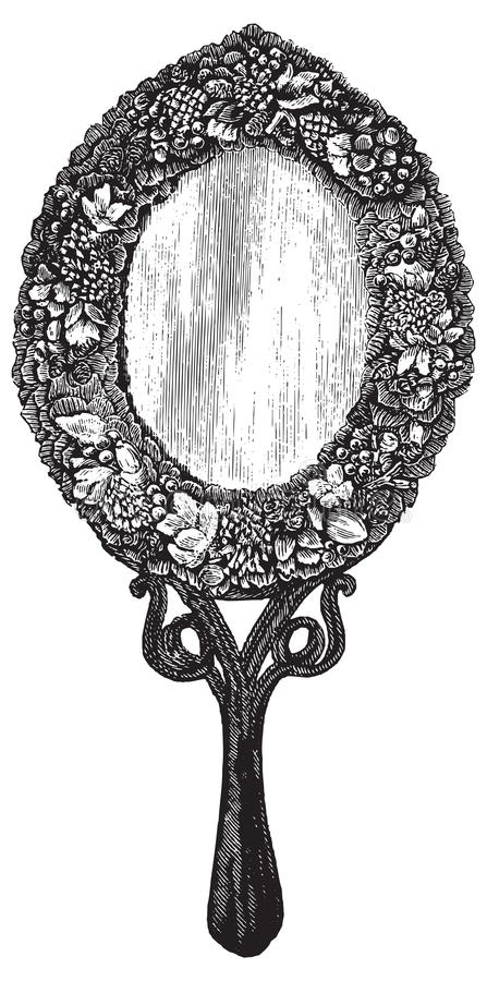 Ejemplo del vector del espejo del vintage libre illustration