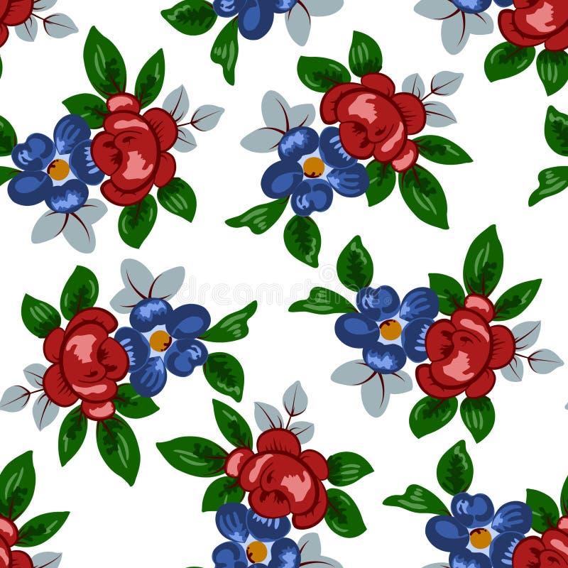 Ejemplo del vector del estampado de plores colorido hermoso inconsútil ilustración del vector
