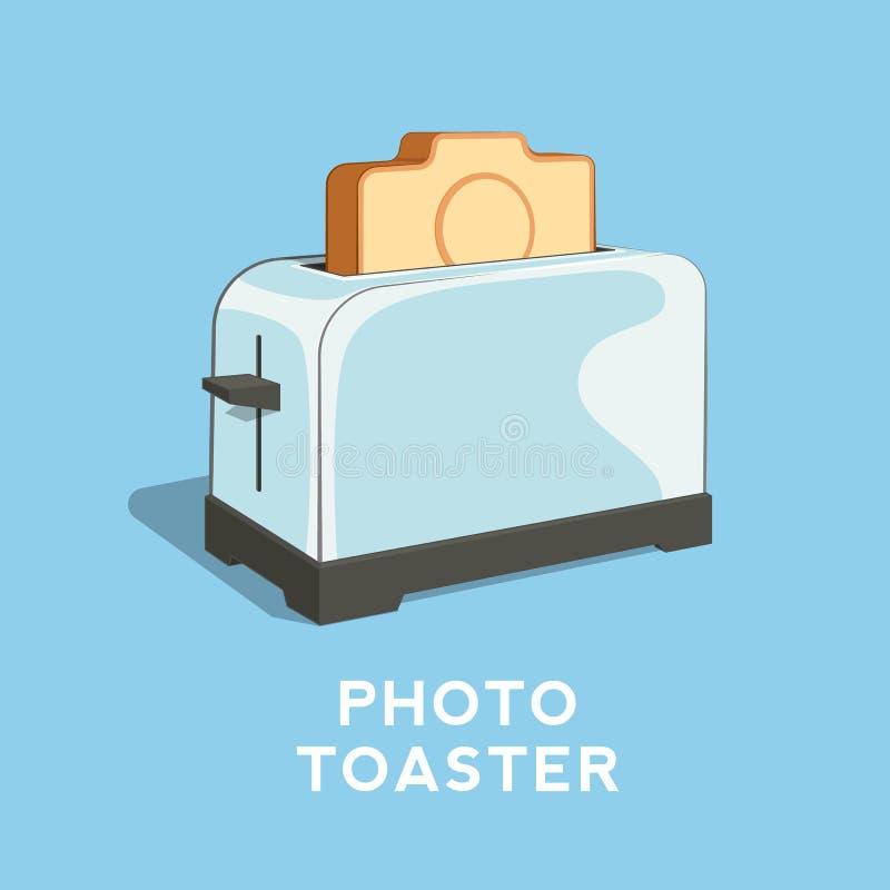 Ejemplo del vector del extracto de la tostadora de la foto libre illustration