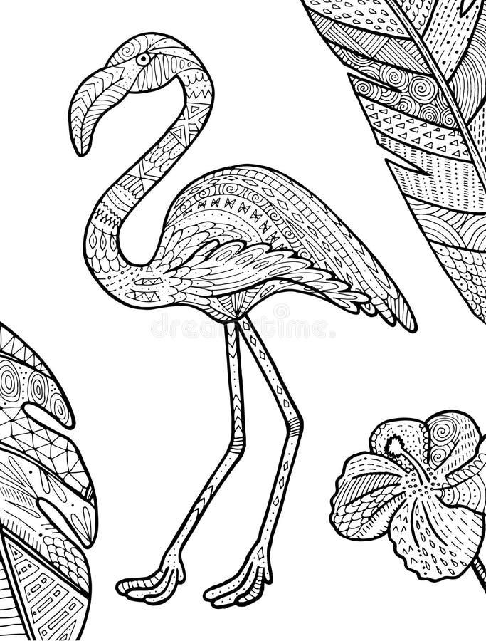 Ejemplo del vector del flamenco stock de ilustración
