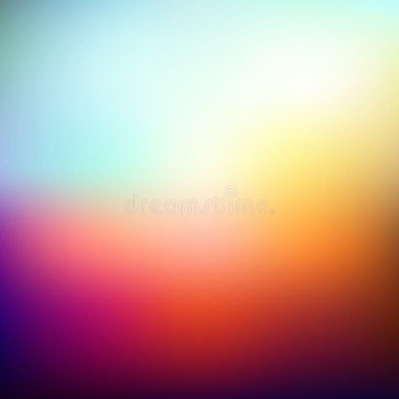Ejemplo del vector del fondo abstracto coloreado suavidad Fondo ligero del verano libre illustration