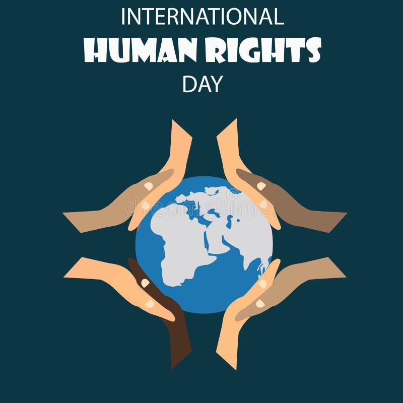 Ejemplo del vector del fondo del día de los derechos humanos libre illustration