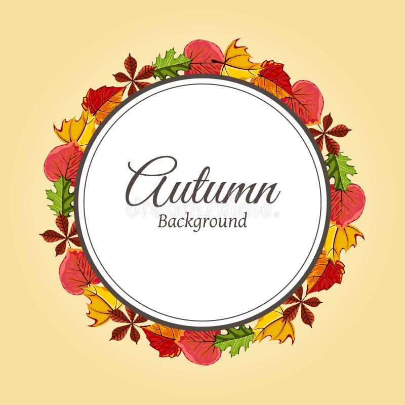 Ejemplo del vector del fondo del otoño stock de ilustración