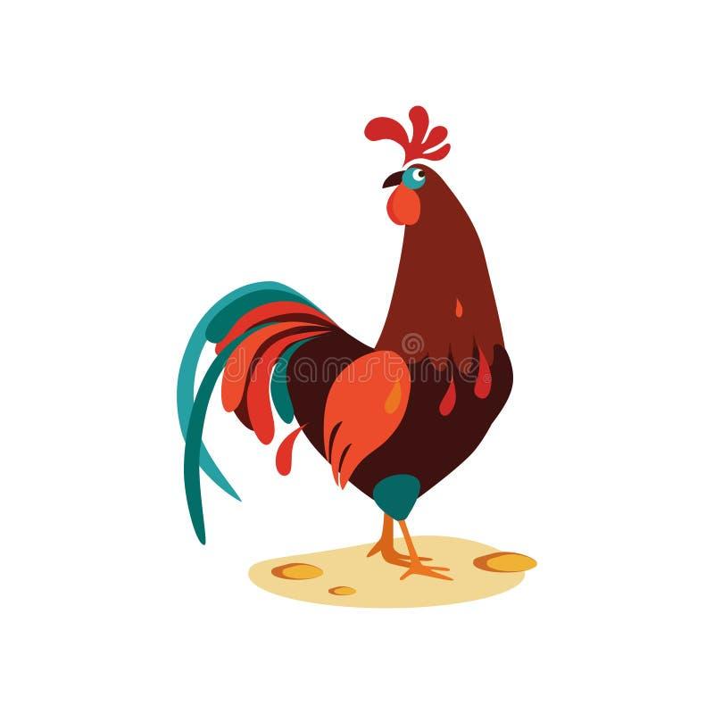 Ejemplo del vector del gallo libre illustration