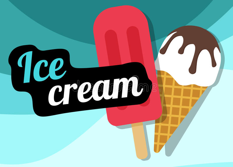 Ejemplo del vector del helado libre illustration