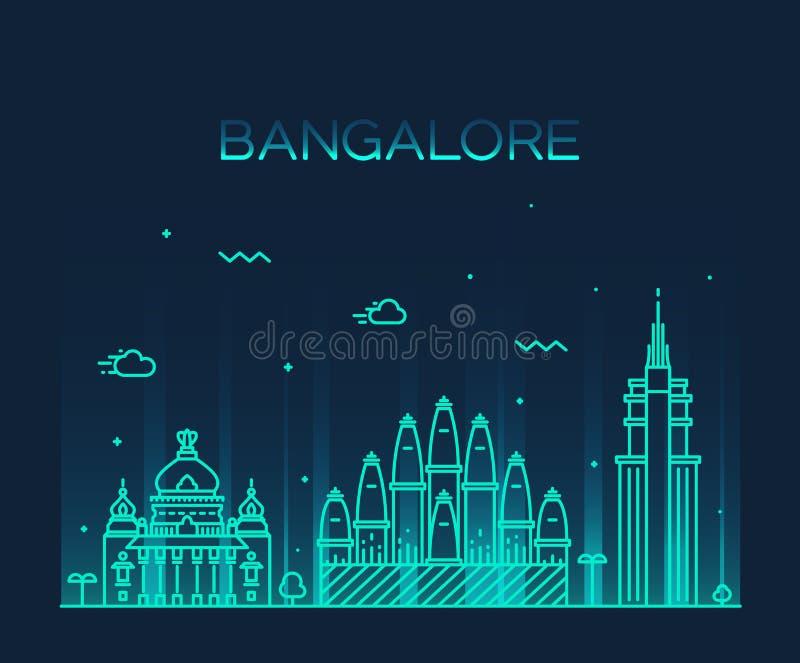Ejemplo del vector del horizonte de Bangalore linear libre illustration