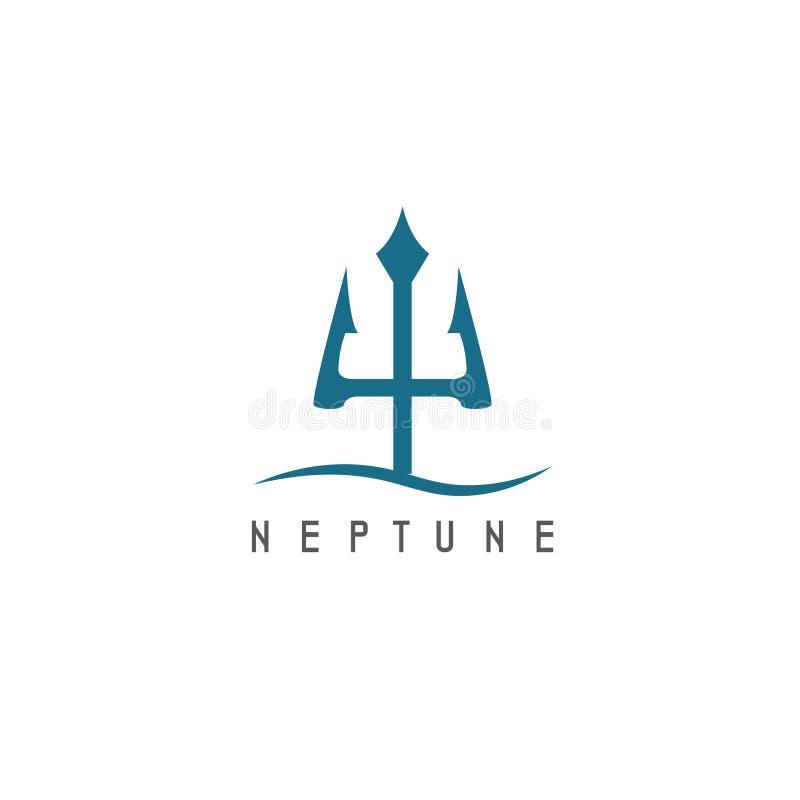 Ejemplo del vector del icono abstracto Neptuno stock de ilustración