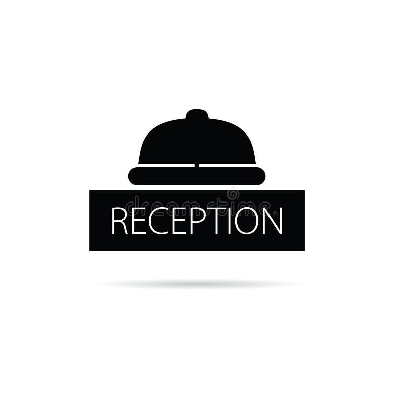 Ejemplo del vector del icono de la campana de la recepción libre illustration