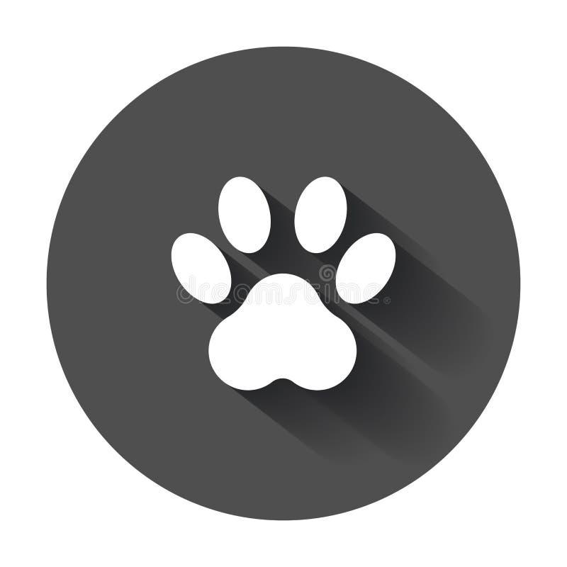 Ejemplo del vector del icono de Paw Print stock de ilustración