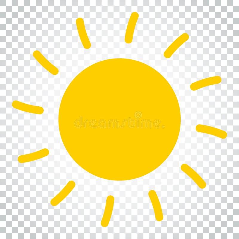 Ejemplo del vector del icono de Sun Sun con símbolo del rayo Busine simple ilustración del vector