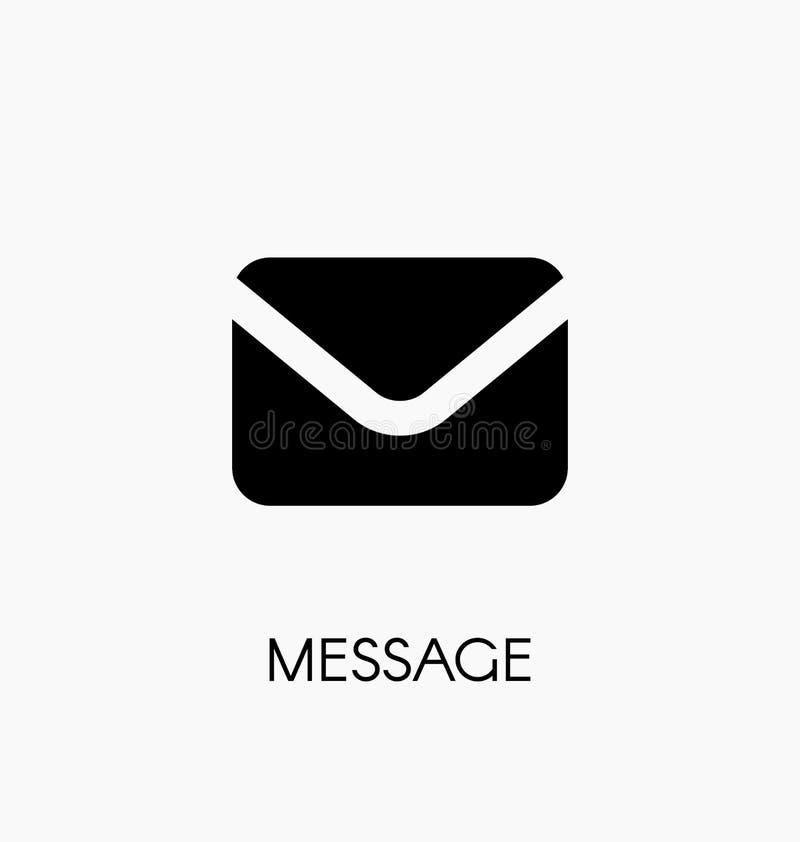 Ejemplo del vector del icono del correo del mensaje Símbolo del sobre ilustración del vector