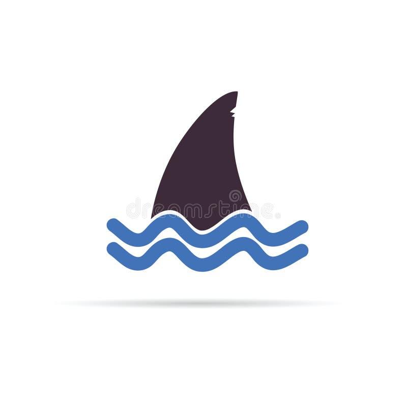 Ejemplo del vector del icono del tiburón libre illustration