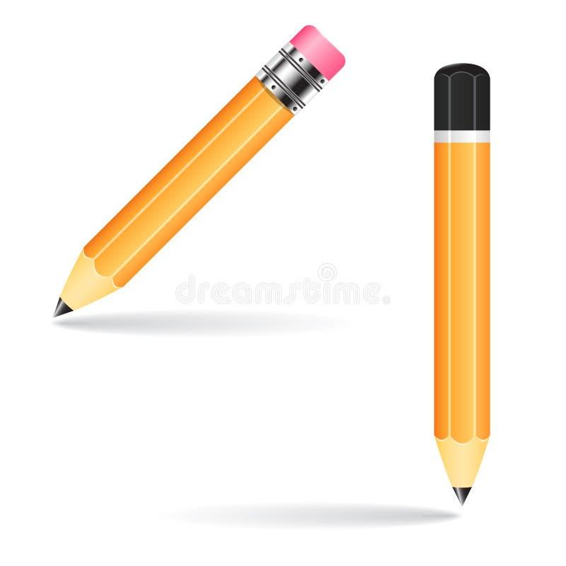 Ejemplo del vector del lápiz imágenes de archivo libres de regalías