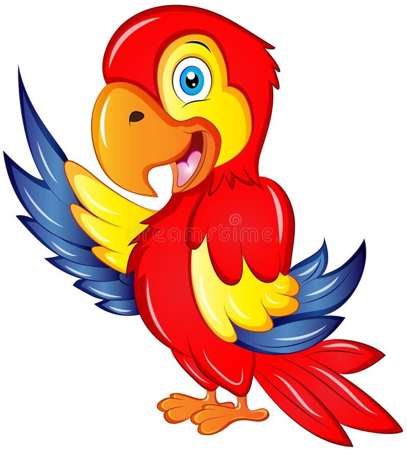 Ejemplo del vector del Macaw de la historieta stock de ilustración