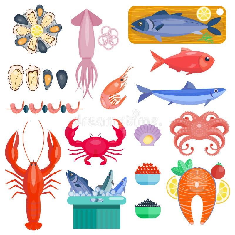 Ejemplo del vector del marisco ilustración del vector