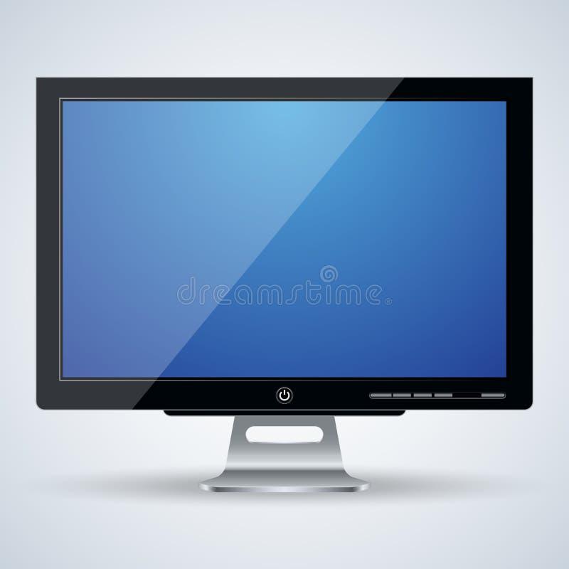 ejemplo del vector del monitor 3d ilustración del vector