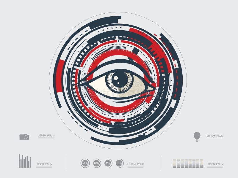 Ejemplo del vector del ojo stock de ilustración