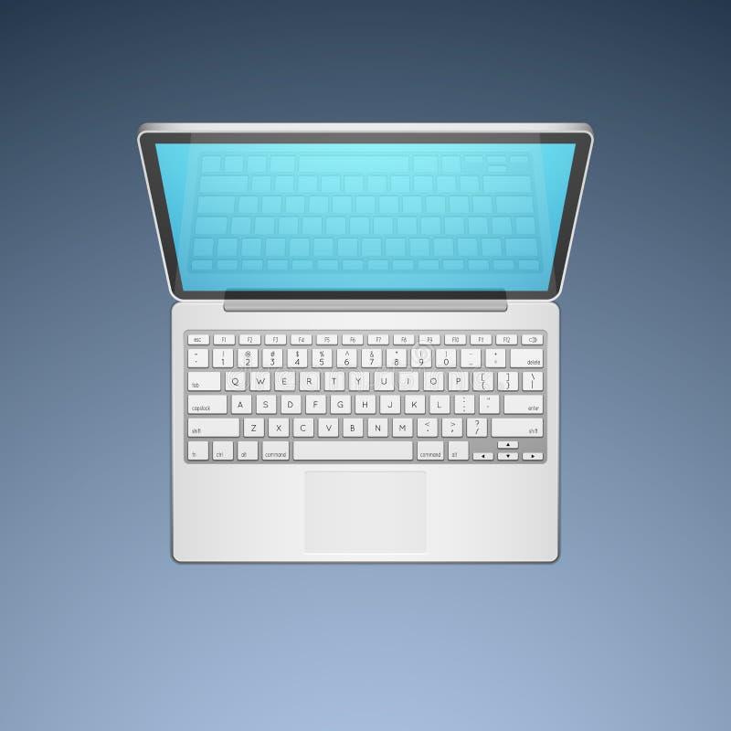 Ejemplo del vector del ordenador portátil libre illustration
