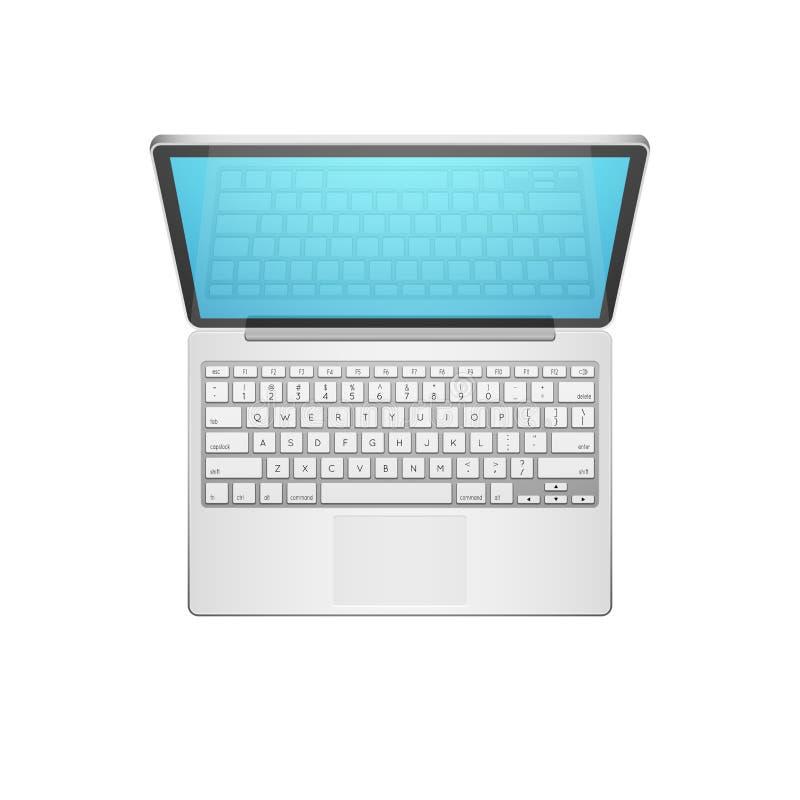 Ejemplo del vector del ordenador portátil stock de ilustración