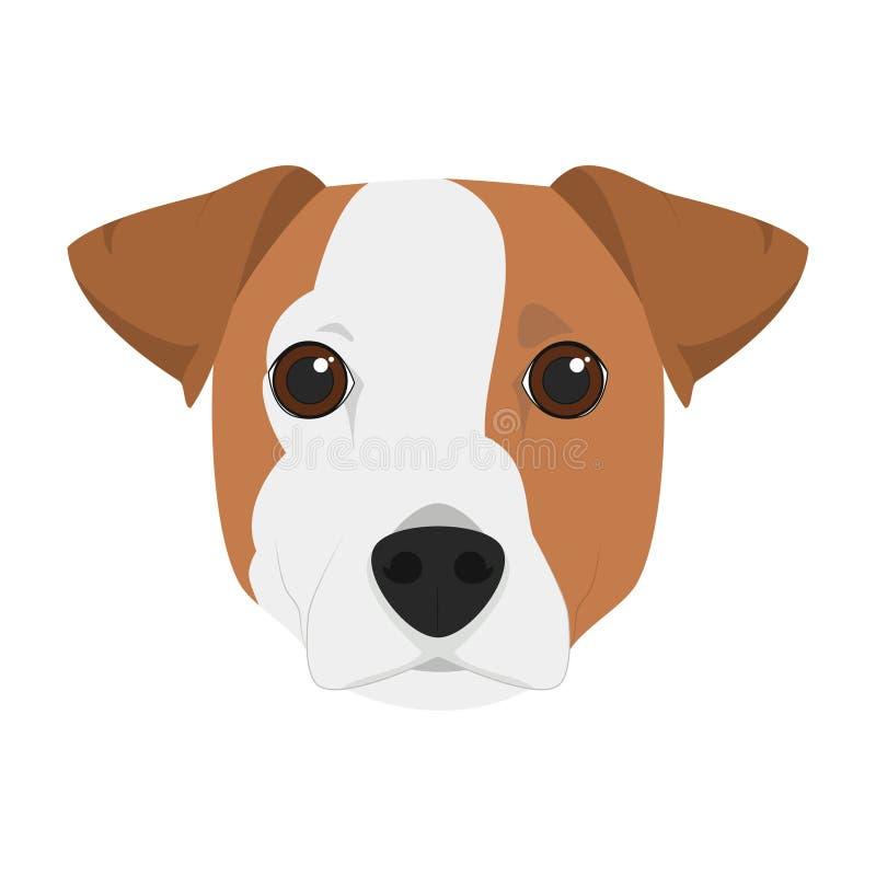 Ejemplo del vector del perro de Jack Russell ilustración del vector