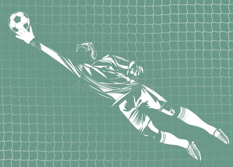 Ejemplo del vector del portero libre illustration