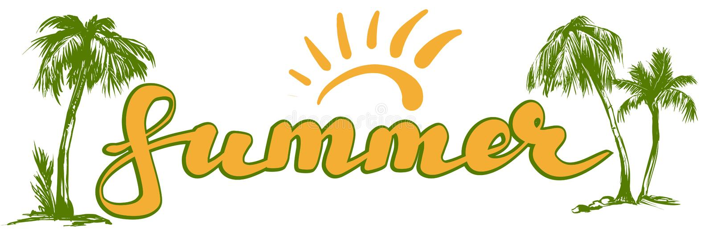 Ejemplo del vector del símbolo del logotipo de la playa del verano aislado en el fondo blanco ilustración del vector