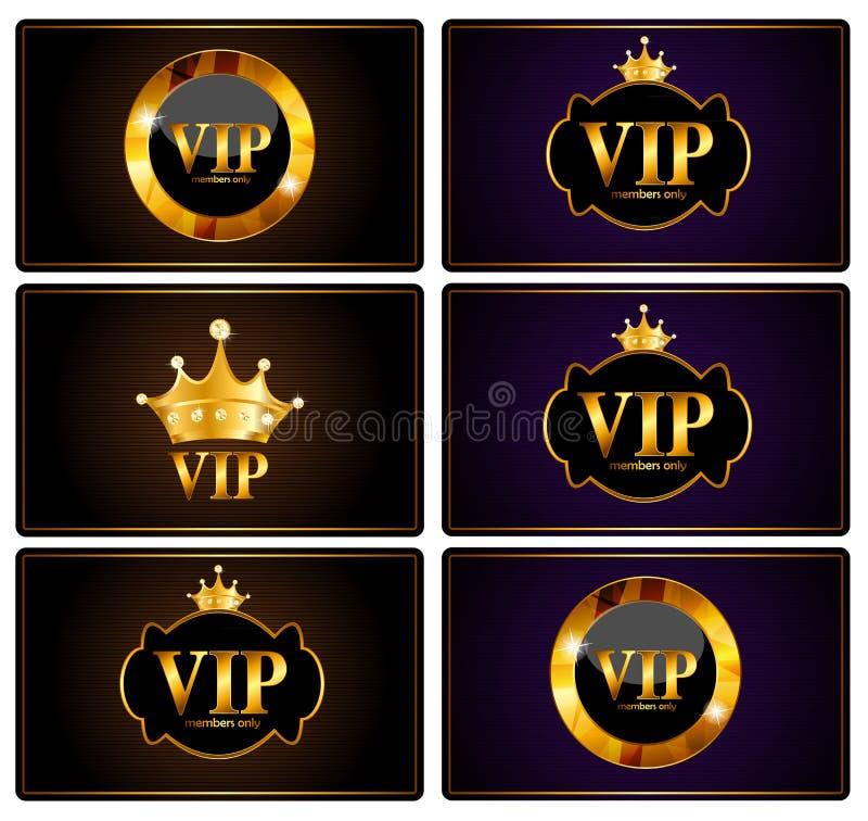 Ejemplo del vector del sistema de tarjeta de los miembros del VIP stock de ilustración