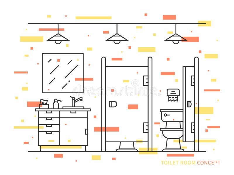 Ejemplo del vector del sitio del retrete ilustración del vector