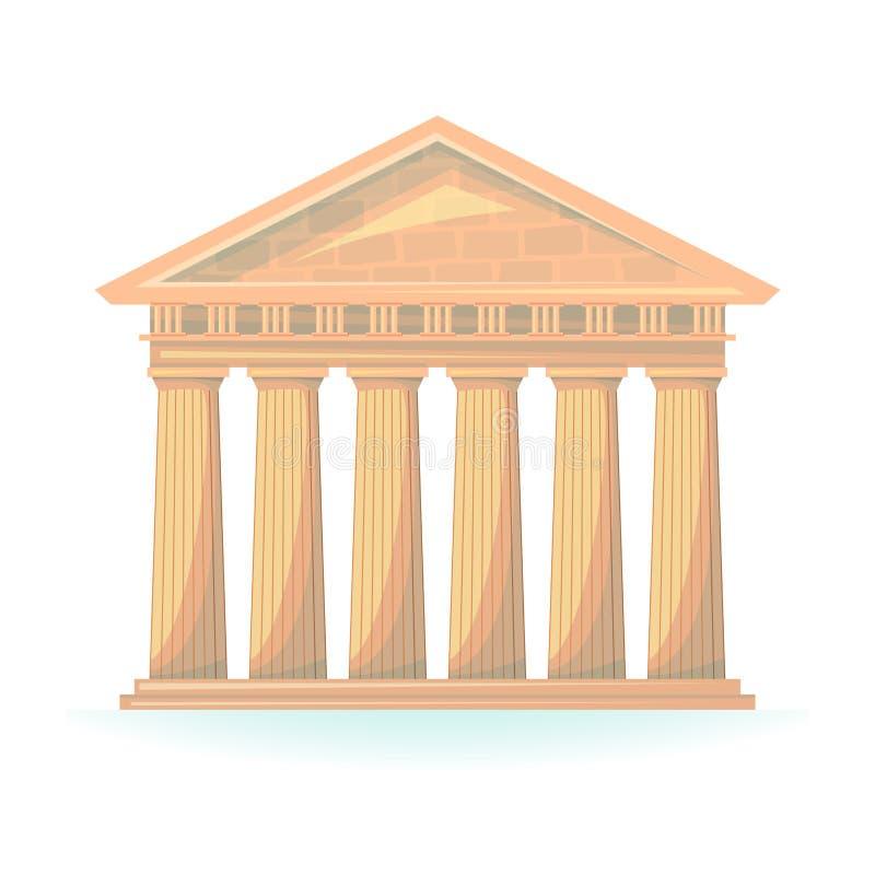 Ejemplo del vector del templo antiguo libre illustration