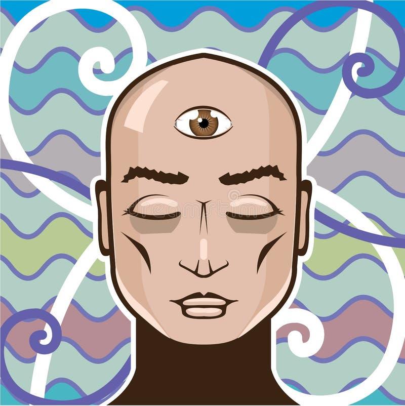 Ejemplo del vector del tercer ojo libre illustration