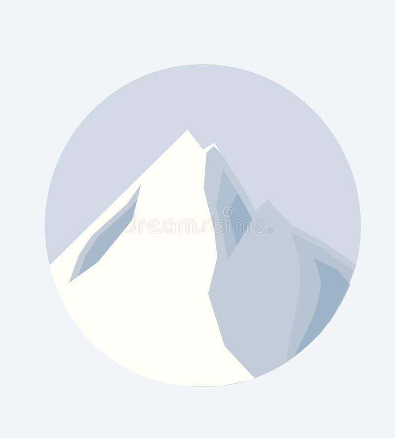 Ejemplo del vector del top de una montaña imagenes de archivo