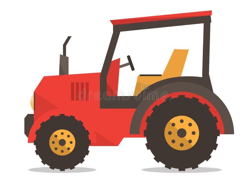 Ejemplo del vector del tractor ilustración del vector