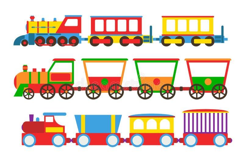 Ejemplo del vector del tren del juguete stock de ilustración