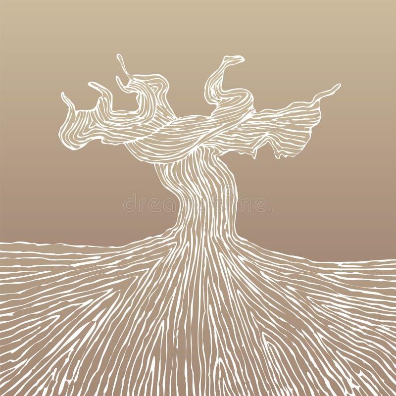 Ejemplo del vector del tronco de la vid ilustración del vector