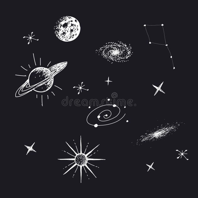 Ejemplo del vector del universo ilustración del vector