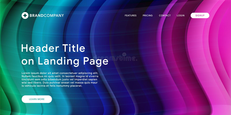 Ejemplo del vector del diseño creativo con las formas coloridas flúidas Pendientes de moda del color Diseño de la tira El líquido imagen de archivo
