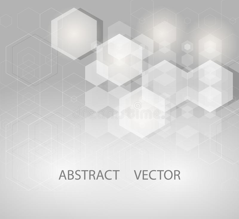 Ejemplo del vector del diseño de la ciencia abstracta del fondo de los hexágonos libre illustration