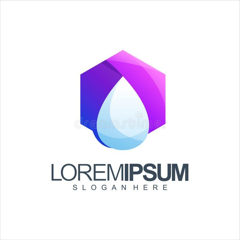 Ejemplo del vector del diseño del logotipo del agua stock de ilustración
